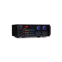 Auna Amp-Pro1 BT PA-Verstärker 2x50 W RMS BT USB SD 3x Mikro 2-Kanal-7-Band-Equalizer Verstärker