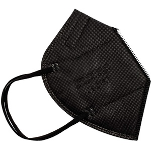 PAIDE P FFP2-Masken, CE-Zertifiziert, atmungsaktiv, 5 Schichten, Erwachsene. schwarz 40 Stück (c2-40)
