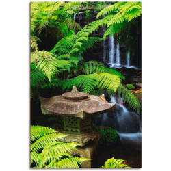 Artland Wandbild Japanische Laterne, Spa (1 Stück) 20 cm x 30 cm