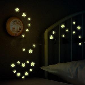 Leuchtsterne für Sternenhimmel - fluoreszierend und im Dunkeln leuchtend