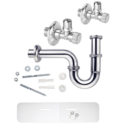 CORNAT Siphon Waschtisch-Geruchsverschluss, (Set), mit Schallschutzset