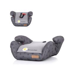 Chipolino Kindersitzerhöhung Kindersitz Booster Gruppe 2/3, 1.2 kg, (15 - 36 kg) Gurtführung Bezug abnehmbar grau