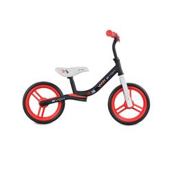 Byox Laufrad Laufrad Zig-Zag 10 Zoll (25,40 cm) Zoll, EVA-Reifen, Sattel einstellbar von 36 - 45 cm ab 12 Monate rot