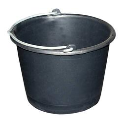 Bau-Eimer 20,0 l, Ø 37,5 cm, 'Profi', schwarz, Skalierung, schwer