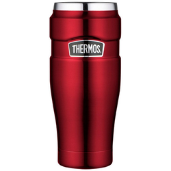 THERMOS Thermobecher Thermos Thermokaffeebecher Tumbler 'King', Edelstahl rot