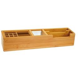 WEDO Schreibtisch-Organizer Bambus braun