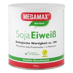 MEGAMAX Soja Eiweiß Vanille Pulver 750 g