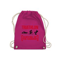 Shirtracer Turnbeutel Triathlon - Survival of the hardest - Turnbeutel