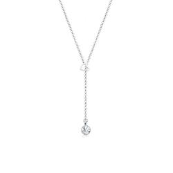 Elli Collierkettchen Herz Y-Kette Kristalle 925 Silber