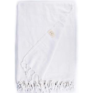 Bersuse 100% Baumwolle - Troy XXL Strandtuch Sofa-Überwurf - Weiß, 148 x 206 cm