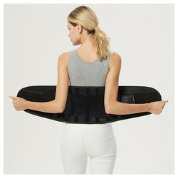 kueatily Bauchweggürtel Bauchweggurtel Sportgürtel, farbiger Taillenschutz, Bandscheibenfixierung Kraftvolles Dehnen und Verriegeln der Taille, doppeltes Gummibanddesign schwarz S