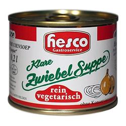 Hesco First Class Klare Zwiebelsuppe de Luxe 3er Pack 212ml 3er Pack