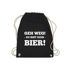 Shirtracer Turnbeutel Geh Weg! Du bist kein Bier! - Festival Turnbeutel - Turnbeutel - Jutebeutel & Taschen, festival turnbeutel bier