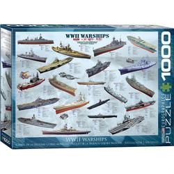 empireposter Puzzle Historische Kriegsschiffe des 2. Weltkriegs - 1000 Teile Puzzle im Format 68x48 cm, 1000 Puzzleteile