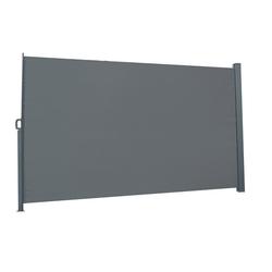 FCH Seitenmarkise Seitenmarkise Seitenwandmarkise Markise Sichtschutz Windschutz Sonnenschutz Balkon 300x180cm grau 300 cm x 180 cm