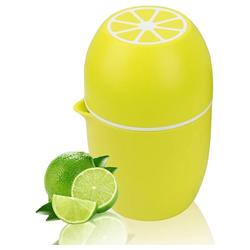kueatily Zitruspresse Zitronenpresse Einzigartiger Zitronenpresse Manueller Entsafter mit zwei Pressoptionen für verschiedene Früchte gelb