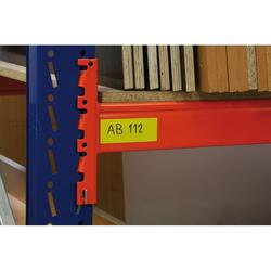 Magnetstreifen, 30 x 600 mm, gelb, 10 stk.