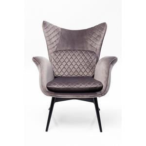 Kare Design Sessel Tudor Velvet Silbergrau