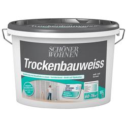 SCHÖNER WOHNEN-Kollektion Wandfarbe Trockenbauweiß, 5 l