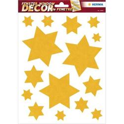 Fensterbild Sterne gold