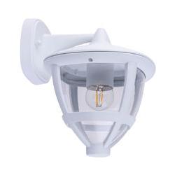 RGB LED Wandlampe, Laterne, ALU, weiß, B 17,5 cm