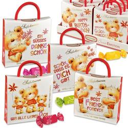 Günthart Sweet Emotion Tasche Bären mit Sprüchen Frucht Toffees 70g