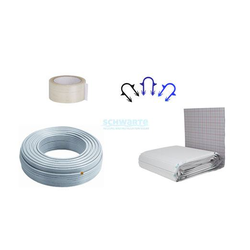 Zewotherm Fußbodenheizung Paket 120 m² Tackersystem 30-3, PE-Xc Rohr 17 x 2