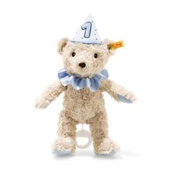 Steiff 1.Geburtstag Teddybär Junge Spieluhr, blau, 26 cm