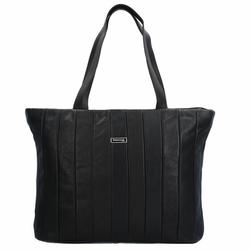 Greenland Black Nappa Shopper Tasche Leder 37 cm black
