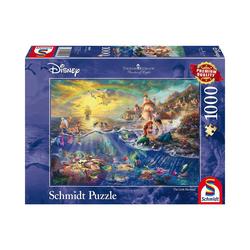 Schmidt Spiele Puzzle Puzzle 1000 Teile Thomas Kinkade Disney Arielle, Puzzleteile
