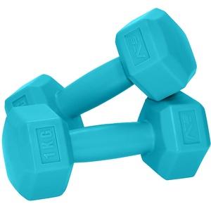 SportVida Hexagon Kurzhantel-Set - Gewichte Hantel Set Weise - Fitness Zuhause - Multifunktionale Mini Hanteln - Nicht Drehbar - Perfekt für zu Hause (2 x 1 kg)
