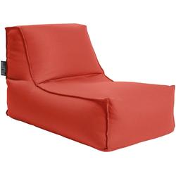 Sitting Point Sitzsack KORFU Rock (1 St), SITTING POINT für Indoor und Outdoor rot
