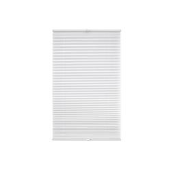 Plissee Klemmfix-Plissee verspannt, Liedeco, Lichtschutz, ohne Bohren, verspannt weiß 75 cm x 130 cm