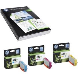 HP 920XL CMY (CH081AE) + 50 Blatt Papier