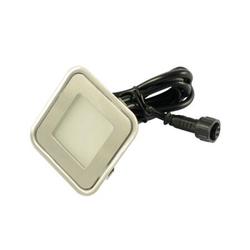 LED Einbaustrahler ARGOS IP67 eckig RGB 12V DC 0,9W 58mm