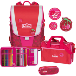 Scout Schulrucksack Ultra, Cherry Red (Set)
