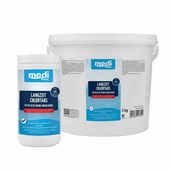 mediPOOL Langzeit-Chlor Tabs 200 g Langzeitchlortabletten Chlortabletten Pool - Inhalt:5 kg