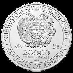 5 kg Silber Armenien Arche Noah diverse Jahrgänge