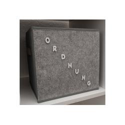 HTI-Line Aufbewahrungsbox Aufbewahrungsbox Paloma mit Buchstaben (1 Stück), Stoffbox