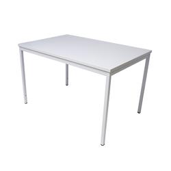 ADB Büro Schreibtisch / Stahlrohrtisch 120x80x75 cm, RAL7035 lichtgrau