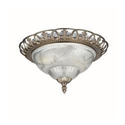 Licht-Erlebnisse Deckenleuchte BRETTEN Jugendstil Deckenleuchte Bronze Metall Glas Esstisch Lampe