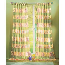 Gardine, Gardinenbox, Schlaufe (2 Stück), Kindergardinen Set mit süßen Tieren 60010