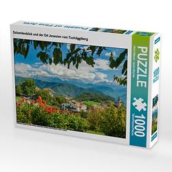 Dolomitenblick und der Ort Jenesien vom Tschögglberg Lege-Größe 64 x 48 cm Foto-Puzzle Bild von studio-fifty-five Puzzle