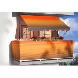 Angerer Freizeitmöbel Klemmmarkise, orange-braun, Ausfall: 150 cm, versch. Breiten orange Klemm-Markisen Markisen Garten Balkon Klemmmarkise