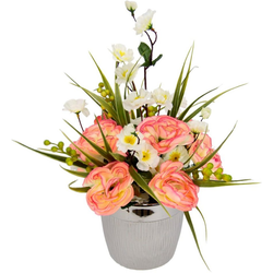 Kunstpflanze Ranunkel/Blüten, I.GE.A., Höhe 30 cm