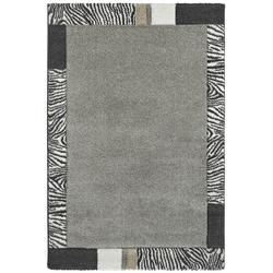 Moderner Bordürenteppich - Zebra - Silber