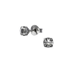 Monkimau Paar Ohrstecker Kristall Ohrringe 925 Silber Kinder Ohrstecker (2 x Ohrstecker (1 Paar), mit Kristallen