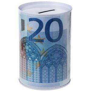 Huwaioury Kreatives Euro-Dollar-Sparschwein aus Metall, Zylinderform, Dekoration für Zuhause