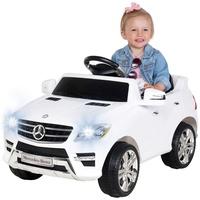 Actionbikes Motors Kinder Elektroauto Mercedes ML 350 Original Lizenz Auto 2X 25 Watt Motor Kinderauto Kinderfahrzeug Elektroauto (Weiß)