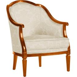 SELVA Sessel Villa Borghese, Modell 1374, kirschbaumfarbig beige